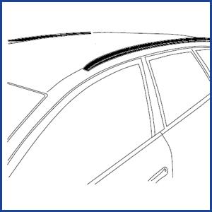 Voertuigen met een gesloten/dichte/geintegreerde dakrail