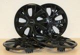 Set van 4 wieldoppen Farad 16 inch zwart topkwaliteit_