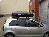 TIP ! Modula Ciao dakkoffer skibox 430 Liter hoogglans zwart- 75 kg_