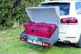 TowBox V1 Grijs bagagebox voor op de trekhaak 280 liter_