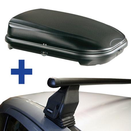 Dakdragers + Dakkoffer Mitsubishi ASX 5 deurs hatchback 2010 t/m 2013