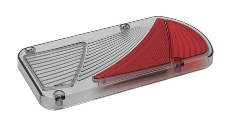 Ajba 5 functie achterlicht 'wave' lens rechts - Pro-user Diamant/Bosal Tourer
