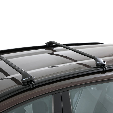 Modula dakdragers Mitsubishi Outlander 5 deurs SUV vanaf 2012 met geintegreerde dakrails