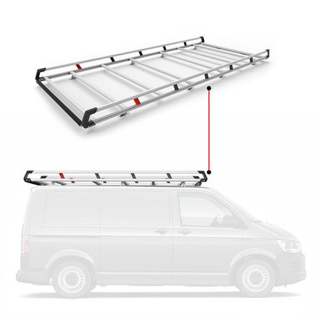 Q-Top imperiaal/bagagerek Peugeot Expert / Citroen Jumpy / Toyota ProAce vanaf 2016 / Opel Vivaro (L1-H1 met deuren) vanaf 2019