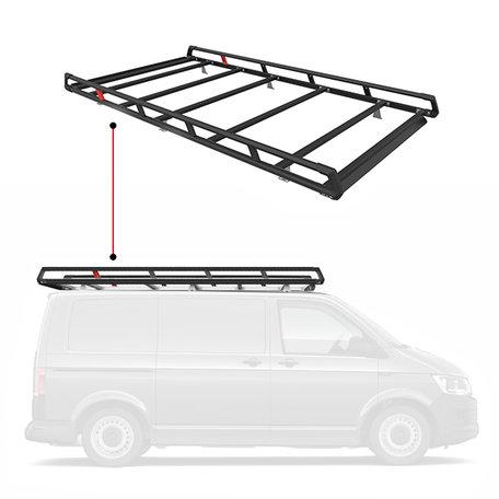 Q-Top zwart imperiaal/bagagerek Nissan NV300 / Fiat Talento / Renault Trafic / Opel Vivaro (L1-H1 met klep) vanaf 2014
