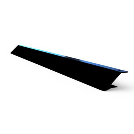 Q-Top Alu-look imperiaalspoiler 1500x50mm zwart