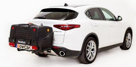 TowBox V1 Zwart bagagebox voor op de trekhaak 350 liter