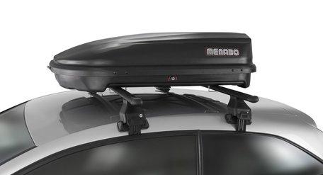 Dakkoffer 320 liter Mat zwart Menabo Quasar