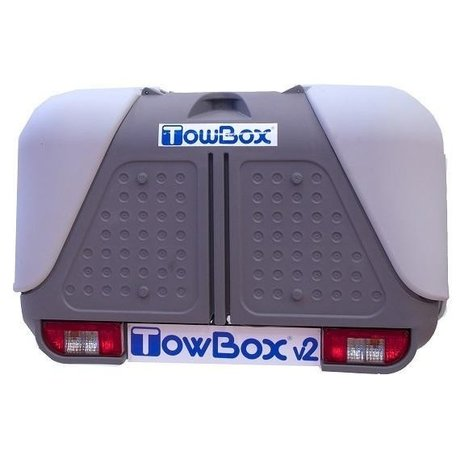 Towbox V2 Grijs trekhaak bagagebox 390 liter