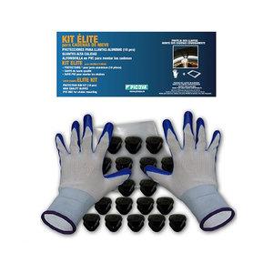 Velgbeschermerset - Handschoenen, kunsstofclips en kniematje