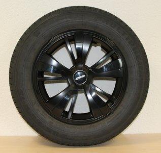 Set van 4 wieldoppen 15 inch zwart topkwaliteit