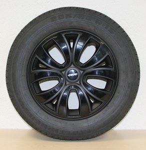 Set van 4 wieldoppen Farad 16 inch zwart topkwaliteit