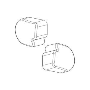 Afdekdoppen Nordrive voor aluminium dakdragers set van 2 stuks links en rechts