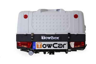 TowBox V1 Grijs bagagebox voor op de trekhaak 280 liter