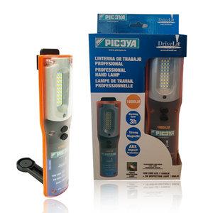 Professionele oplaadbare LED hand/zaklamp 1000LM met sterke magneet
